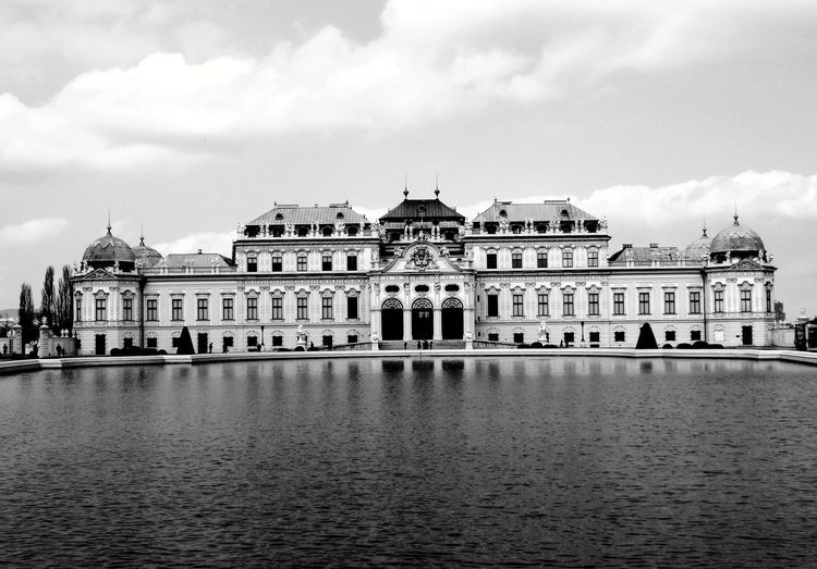 palace Wien Blackandwhite Atmospheric Mood Reflections In The Water Still Life Backgrounds Structures Palacio De Bellas Artes  Palace Architecture EyeEm Best Shots EyeEm Best Shots - Black + White Eyem Gallery My New Home  City Water Royalty History Sea Palace