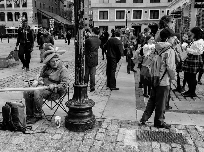 The Photojournalist - 2015 EyeEm Awards Photography Photooftheday New England  EyeEm Best Shots GalaxyS5 Vscocam Faneuil Hall Boston Black And White