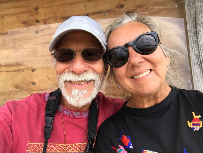 #NotYourCliche Hello ❤ To All Our EyeEm Friends From Bob M And Kathryn M Two People Portrait Senior Adult Senior Men Sunglasses Individuality Beard Gray Hair Smiling Adults Only Happiness Front View Headshot Adult Mature Adult Men Cheerful Togetherness Facial Hair