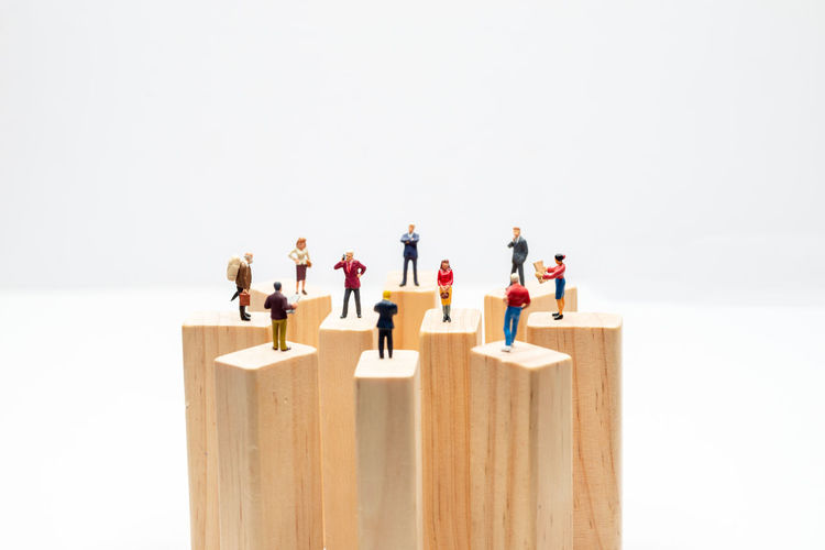 Group of people against white background