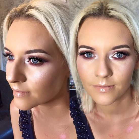 Saturday 23rd July Pre Birthday Makeup :) Partying 30thBirthday MUA💅🏻 PeachPallette Pink&Gold💖 Selfie ✌ Stunning_shots Makeup