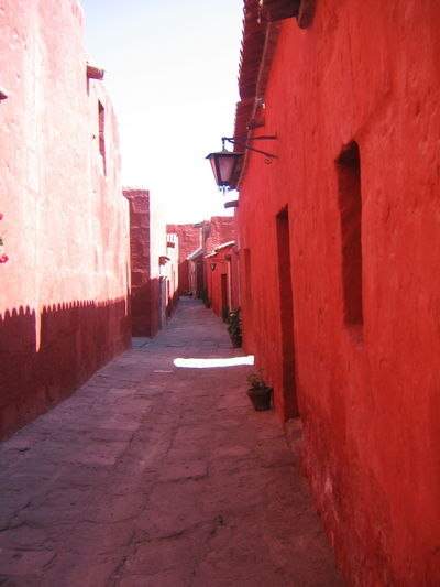 Architecture Arequipa Arequipa - Peru Building Exterior Built Structure City Day Monastary Monasterio De Santa Catalina No People Outdoors Road Sky Sunlight The Way Forward