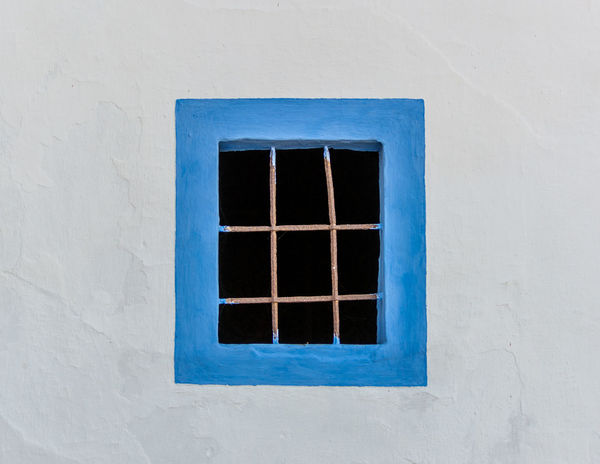 Colors Frame It! Framed Portugal Wall Art Architecture Blue Day Frame Framed Shot One Object Pattern Rectangle Rectangle Shape Rectangular Frame Wall With Window Window Window Frame