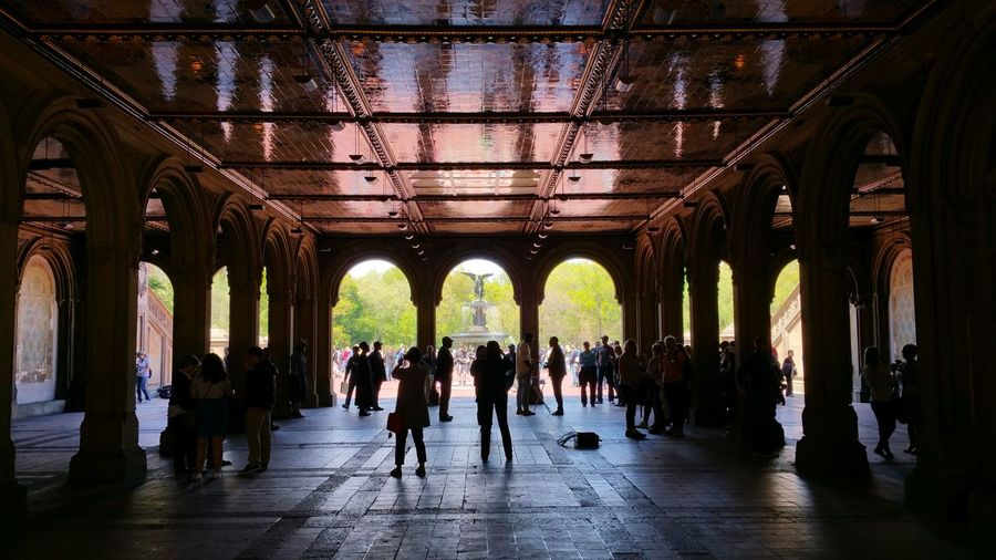 People At Bethesda Terrace And Fountain