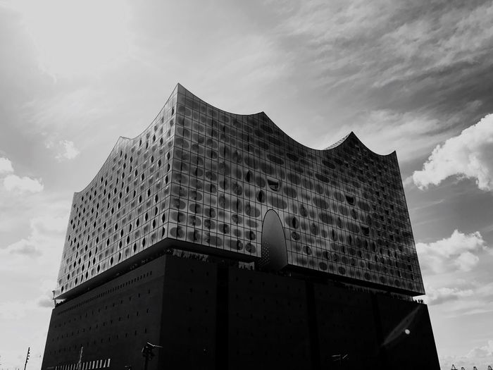 Elbphilharmonie in Hamburg Architecture Building Exterior Built Structure Low Angle View Sky Cloud - Sky Outdoors Day City No People Modern Skyscraper