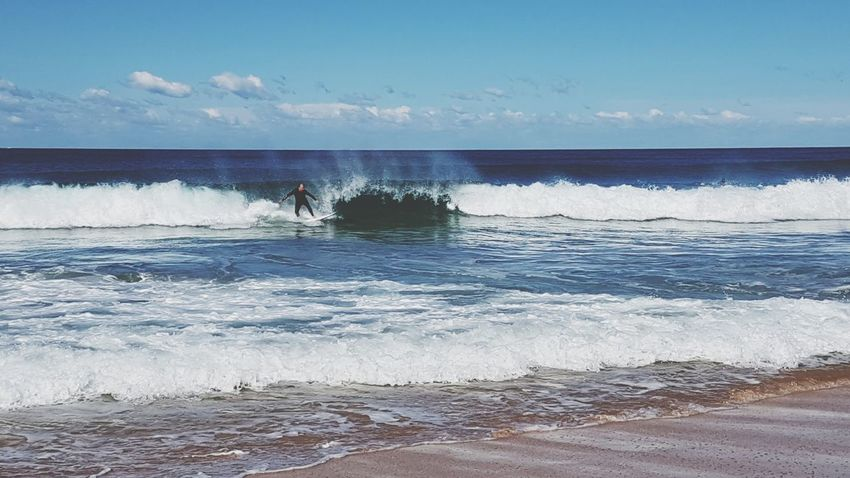 Sea Beach Wave Water Sand Nature Sky Surfing Sport Horizon Over Water Motion Vacations Aquatic Sport One Person People Outdoors Beauty In Nature Men Scenics Day