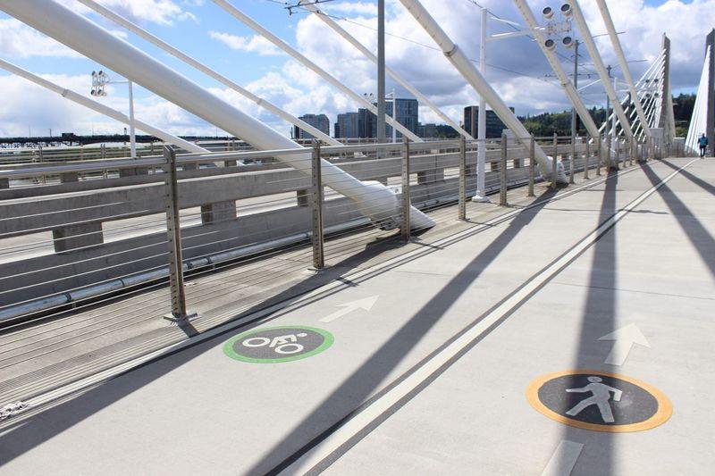 EyeEm Selects No People Day Outdoors Sky Bridge Man Made Structure Sign Portland Portland, OR Tillikum Bridge City