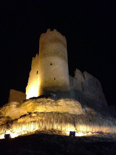 History Built Structure Ancient Low Angle View Architecture Night Mazzarino Sicily Tranquility Tranquil Scene Casale Sky No People Illuminated Building Exterior Ancient Civilization Fort Outdoors