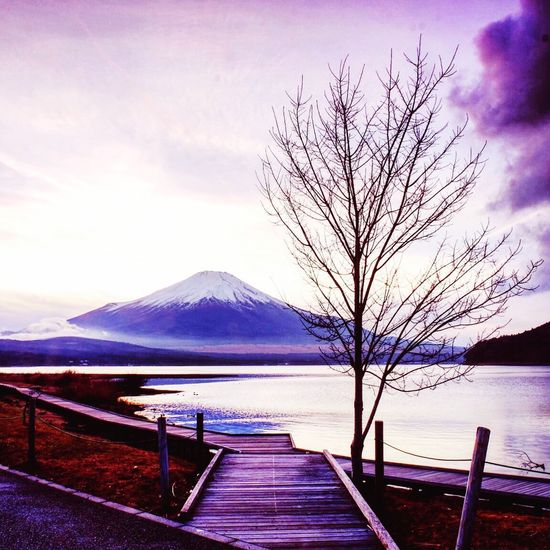 Mount FuJi Sky Water Mountain Beauty In Nature Cloud - Sky Scenics - Nature Tranquil Scene