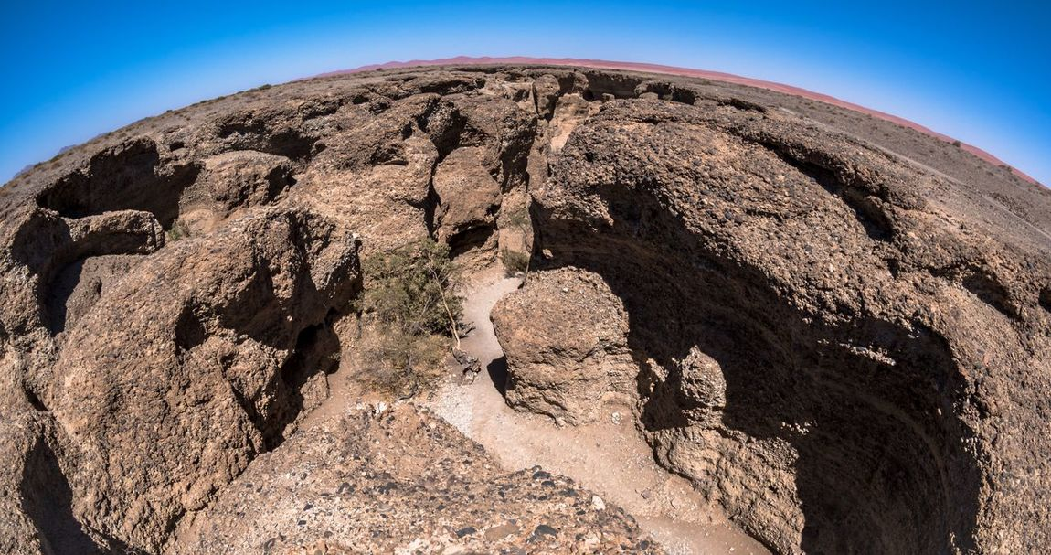 Fisheye Naukluft National Park Namib Desert Desert Sky Nature Sunlight Land Day Outdoors No People Clear Sky Tranquility Tranquil Scene Scenics - Nature