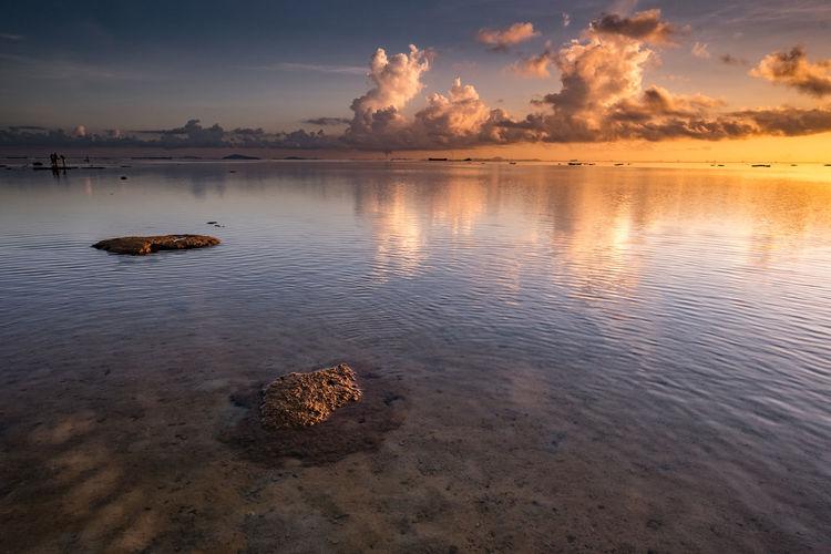Sunrise at Teluk Mata Ikan Beach Tranquility Landscape Batam Beach Summer Horizon Over Water No People Lee Filters Sirui Manfrottotripod