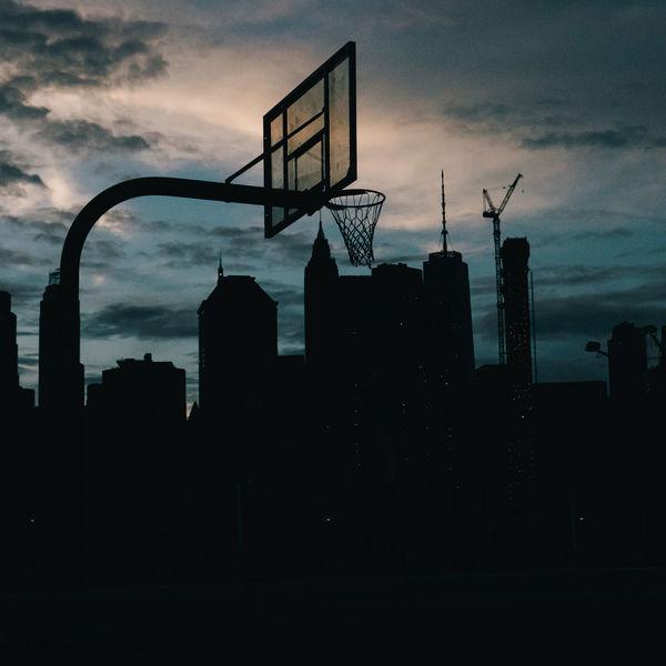 Basketball Basketball Hoop Brooklyn Manhattan Manhattan Skyline NYC New Yokr New York City New York Skyline  Silhouette Skyline Travel Basket Buildings Travel Destinations Urban