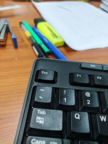 Working Technology Alphabet Computer Key Office Pencil Communication Close-up Keyboard Pencil Sharpener Screen Computer Equipment Mainframe Office Supply Paper Clip Computer Mouse