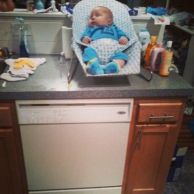 Rainy loves the dishwasher