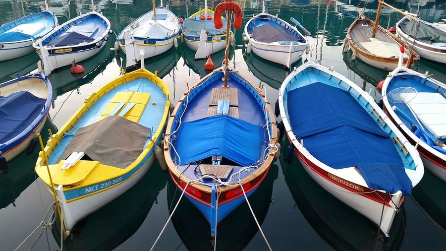 Everything In Its Place Sea Ocean Dockside Dock Marina Boats Deck Boat Colorful Colors Tidy