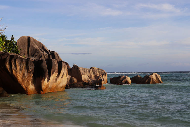 Granite stones golden hour Shaped By Water Geology EyeEm Nature Lover EyeEmNewHere Granite Granite Rocks Time Sea Water Rock Sky Rock - Object Solid Scenics - Nature Beauty In Nature Nature Tranquility Tranquil Scene No People Cloud - Sky Stack Rock Outdoors Beach Rock Formation