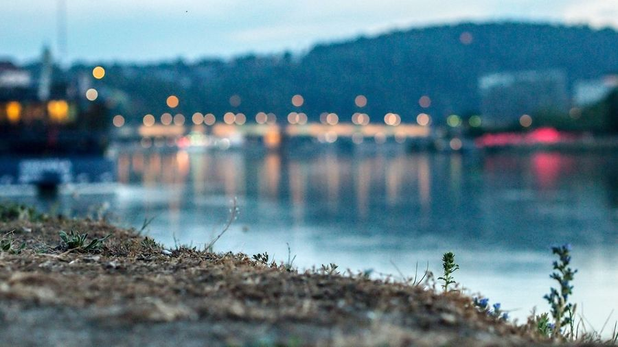 Linz at Night; Photo of the Donau at Night; First Eyeem Photo