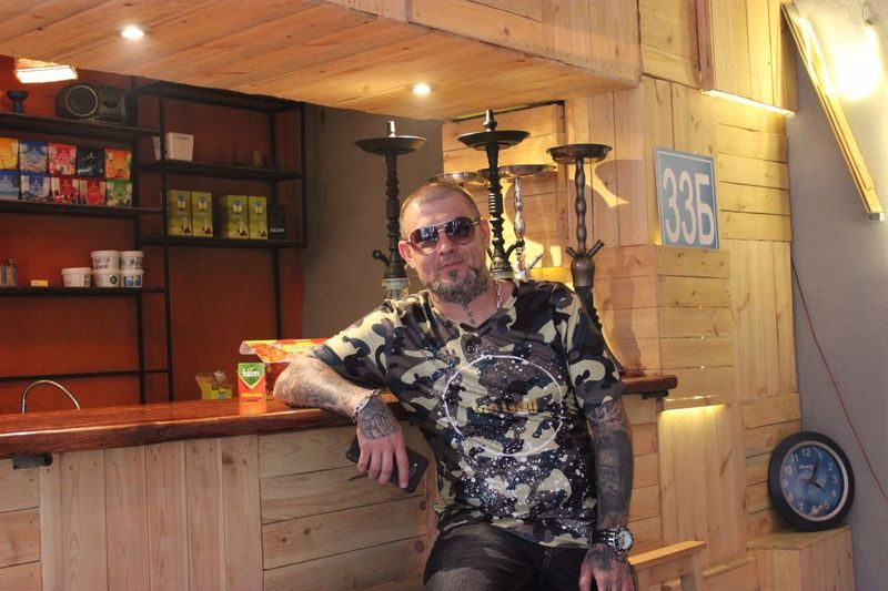 Only Men One Man Only Beard Adults Only One Person Adult One Mature Man Only Front View Mature Adult People Indoors  Lifestyles Gray Hair Portrait Real People Day Максим тату Tattoo Almaty Maxim Maximd Талдыкорган Талдык Men