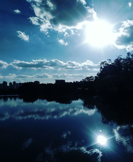 Ibirapuerapark Cloud - Sky Reflection Water Sky Forest Nature No People Blue Beauty In Nature Tree First Eyeem Photo