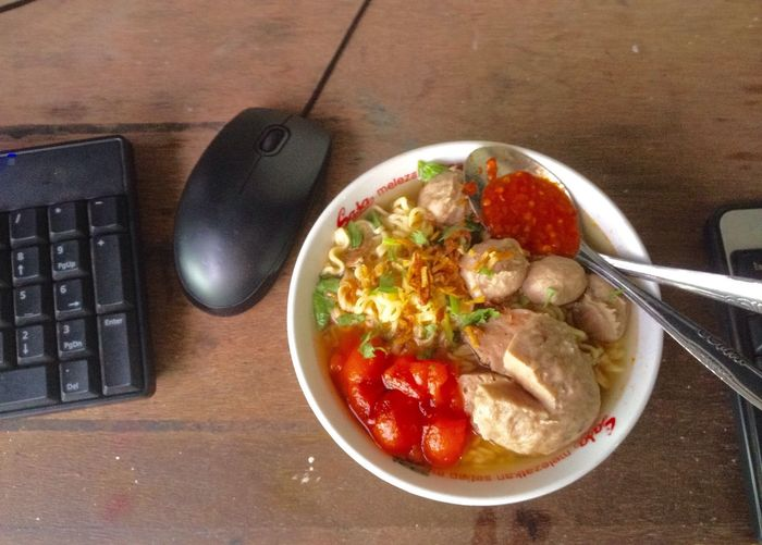 My lunch today Food And Drink Freshness Table Food Indoors  No People Healthy Eating Day Baso Mie Soup