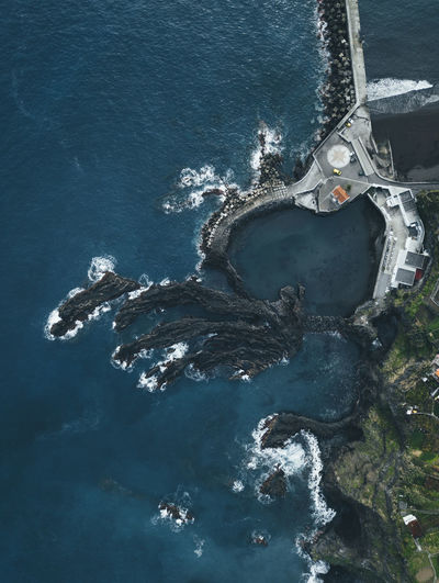Drone  Madeira Porto Moniz Madeira Portugal Architecture Day Dronephotography High Angle View Natural Pool Nature No People Outdoors Sea Seaside Water Waterfront Fresh On Market 2017