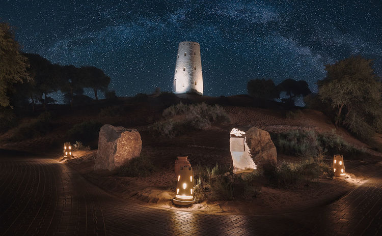 A night walk Architecture Building Building Exterior Built Structure History Illuminated Nature Night No People Outdoors Plant Scenics - Nature Sculpture Sky Star - Space The Past Tower Travel Travel Destinations Tree
