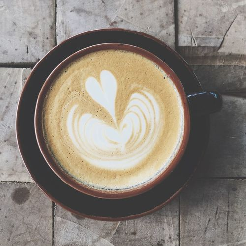 Cappuccino Coffee Coffee - Drink Food And Drink Cup Coffee Cup Drink Mug Frothy Drink Hot Drink Refreshment Heart Shape Cappuccino Freshness Directly Above Food Positive Emotion Froth Art Still Life Creativity Love