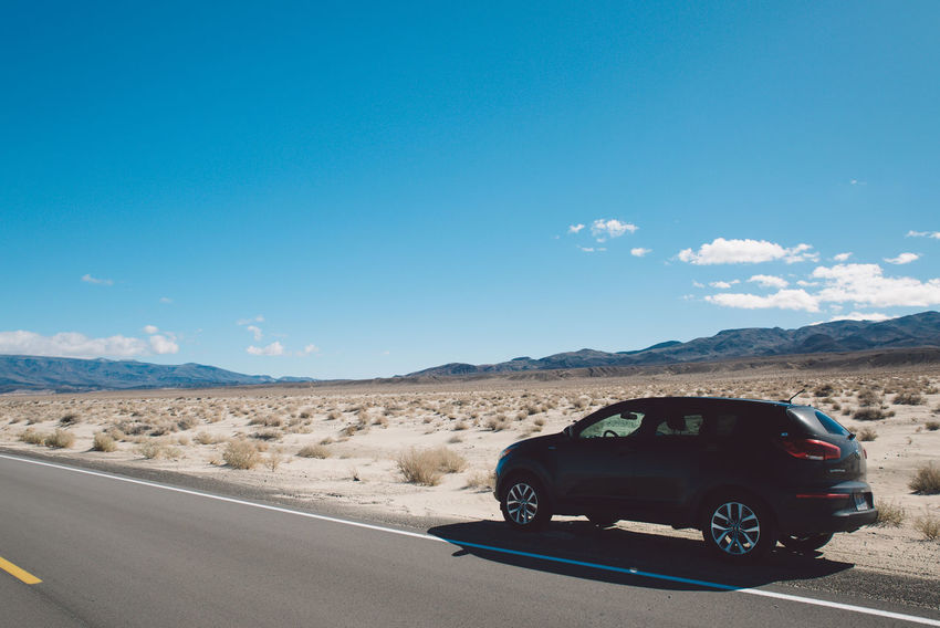 Arid Climate Blue Sky CA-190 Car Cloud - Sky Coso Day Death Valley Desert Desert Land Vehicle Landscape Mountain Mountain Range Mountains Nature Nature No People Olancha Road Road Roadtrip Sky Sunlight Transportation California Dreamin Summer Road Tripping