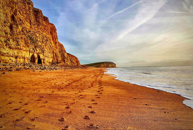Sand Beach Sea Sky No People Nature Outdoors Wave Water Horizon Over Water Day Dorset Coast Dorset Scene Dorset,England Sunlight West Bay Beach West Bay Dorset Uk Broadchurch Perspectives On Nature