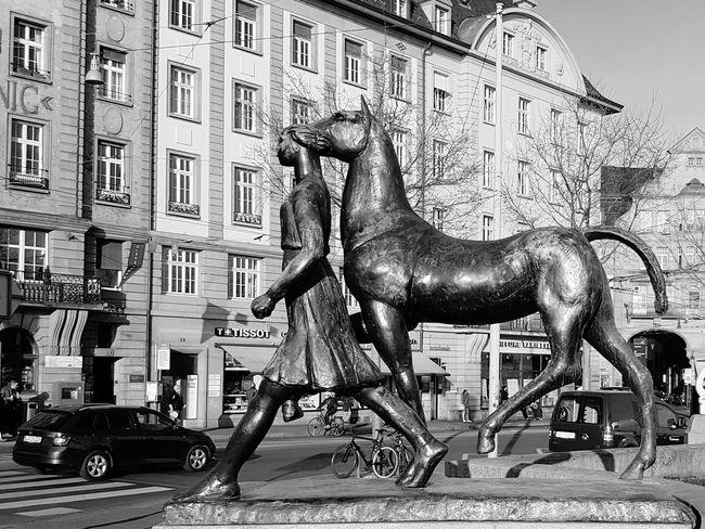 Basel, Switzerland Amazone Carl Nathan Burckhard Sculpture Horse basler kunstverein