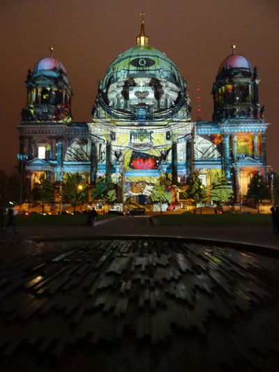 Arch Architecture Berlin Cathedral Berlin Leuchtet Berlin Leuchtet 2016 Berliner Dom Building Exterior Built Structure City Life City Lights City Lights At Night Dome Façade Illuminated Panda Space Adventure Tourism Weltraum