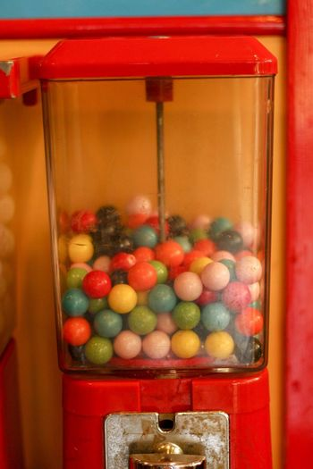 Close-up of multi colored candies in store