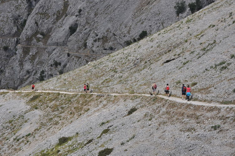 The 'Ruta del Cares' is one of the best-known trails Picos de Europa, located between the provinces of Leon and Asturias in Spain. Asturias Camino Excursion Montañas❤ Mountaineering Nature Path Spain🇪🇸 Summertime Walk Adventure Day España Landscape Mountain Mountaineering Landscape Naturaleza Nature Outdoors People Rocky Mountains Summer Training Verano Walking