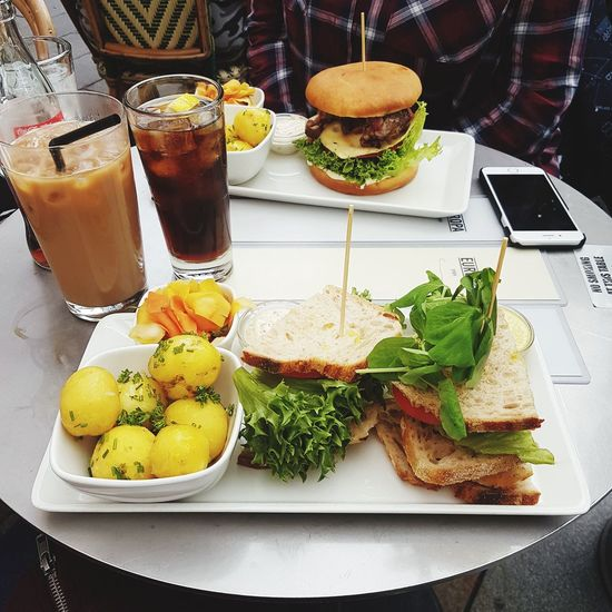 Clubsandwich Food And Drink Indoors  Table Freshness High Angle View Plate Food Bread Drink Ready-to-eat No People Day Healthy Eating Close-up Cozytime Friendship Foodlover