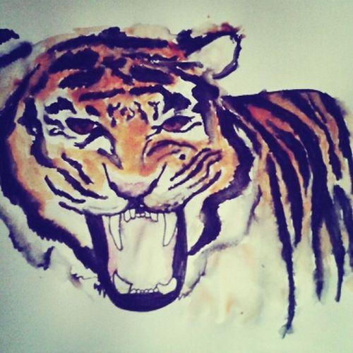 Animal Draw Arte Tiguer