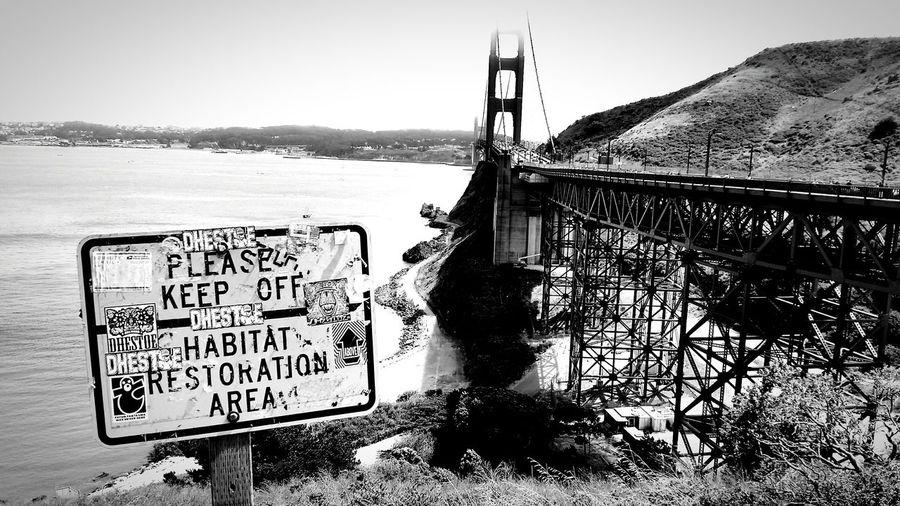 Ghettolove everywhere, even behind our monuments. San Francisco Bay Bridge