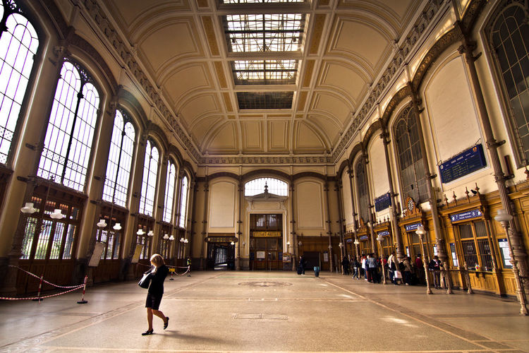 Adult Adults Only Architecture Budapest, Hungary Built Structure City Day Full Length Indoors  Men Nyugati Railway Station One Person People Railway Station Real People Train Station Travel Destinations Walking