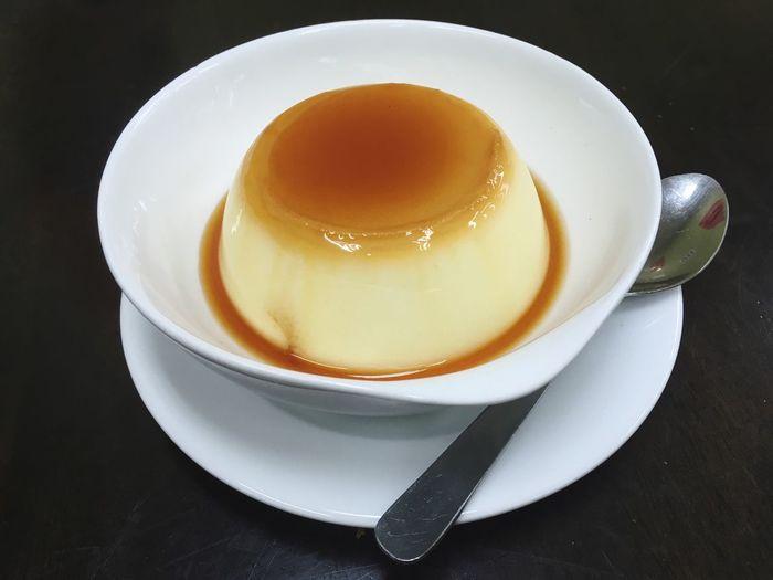 Caramel Sweet Food Saucer Dessert Serving Size Custard Egg Pudding Egg Custard Pudding Cantonese Style Caramel Custard