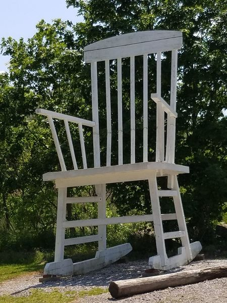 Outdoors Day Roadside Attraction Larger Than Life Rocking Chair Roadside Attractions