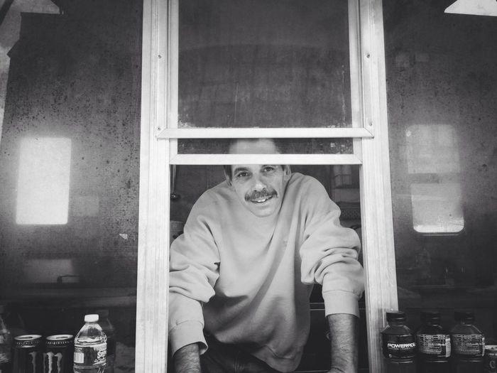Working Blackandwhite Street Portrait Burrito Monger