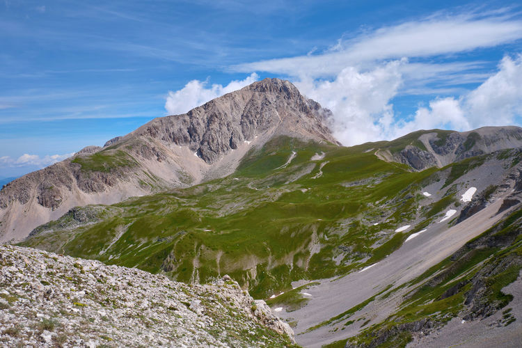 Overview of the great stone abruzzo italy