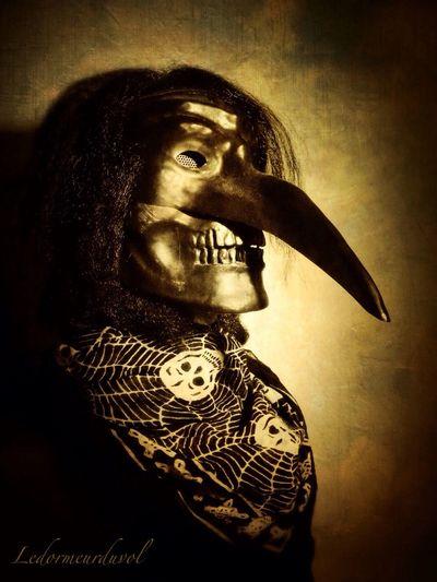 Death in disguise Mask Blackandwhite Gothic LDDV