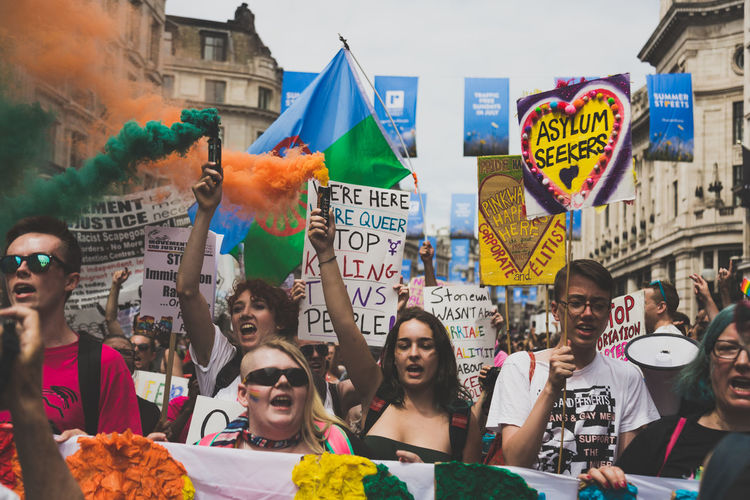 LGBT Pride Parade in London, UK. 2017 Celebration LGBT Parade LGBTQ Rights London Press For Progress Protest Sunny Day Equality Flag Flags Gay Journalism Large Group Of People Lgbt Lgbt Pride March Outdoors People Pride Pride2017 Prideparade Protesters Rainbow Real People Love Is Love