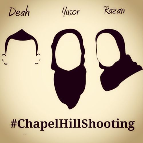 They supported the Palestinians. They organised a project for the Syrians. They are newly-wed. They are brother and sisters. They are Muslims. They are humans. May Allah have mercy on their young souls and grant them Jannah.. Ameen.. Chapelhillshooting Muslimlivesmatter