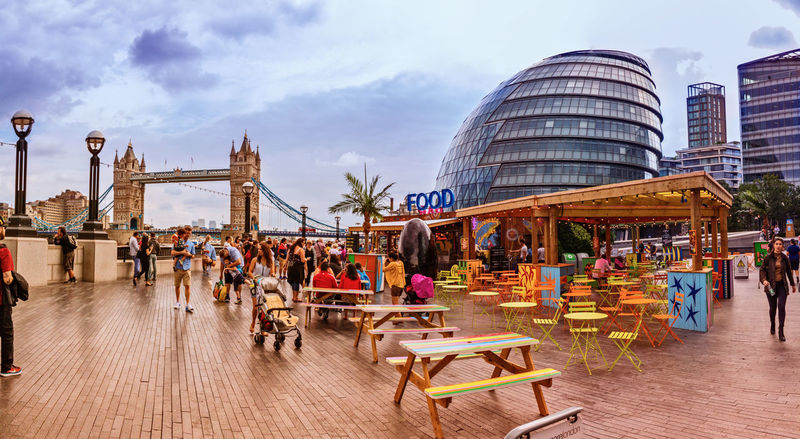 Other London on Bank holiday Built Structure London Southbank Southbank London Cafe City Tower Tower Bridge  Day Walkway City Life Crowd Colour Of Life August August 2016 City Hall City Hall London City Life Southwark  Other London Canon Canon 650D On1 Photo 10 On1