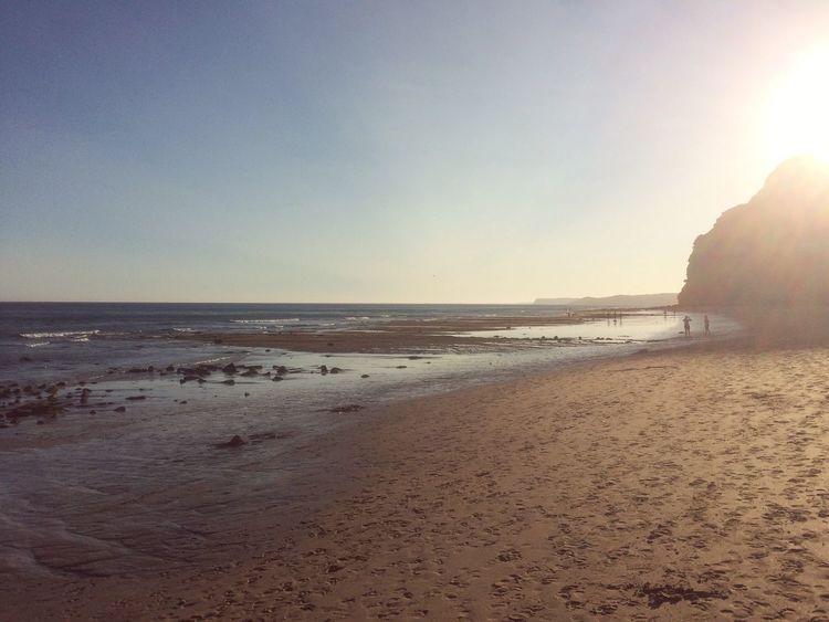 Praia De Porto De Mós Beach Sea Sand Nature Water Beauty In Nature Scenics Horizon Over Water Shore Sunset Sunlight Travel Destinations Vacations Porto De Mos Lagos Portugal Algarve Porto De Mos Praia Praia