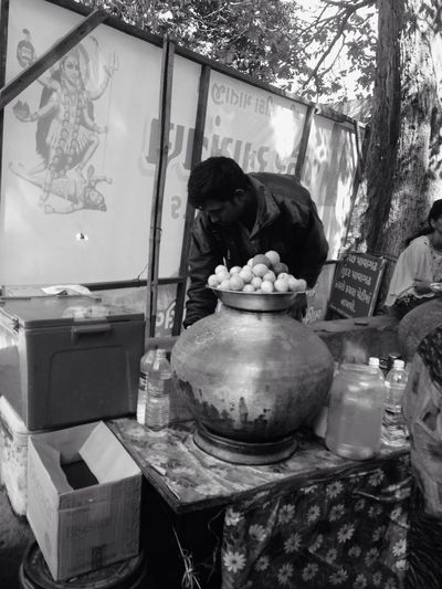 Quality Time Getting Inspired Gujarat One Person Street Photography Street Food Indian Food