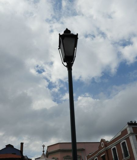 Architecture Cloud - Sky Clouds And Sky Day Daylight Farol Lamp Lamp Post Lighting Equipment Low Angle View Low Angle View Nature No People Outdoors Pespective Sky Street Lamp Street Light Town