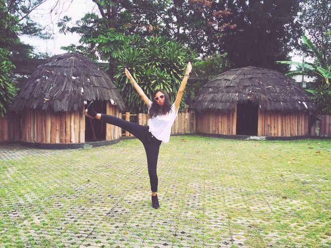 Hello World That's Me Enjoying Life and Having Fun at Anjungan Papua and Love Green Green Green!