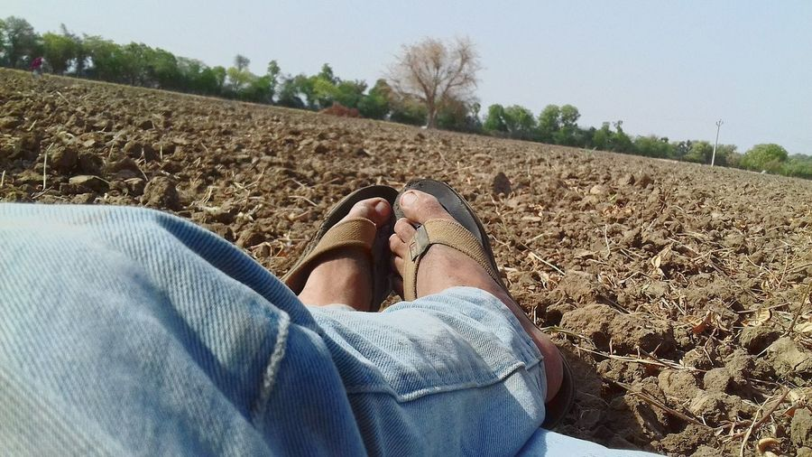 Low Section Human Leg One Person Human Body Part Personal Perspective Human Foot Jeans Adult Adults Only People Day Lifestyles Outdoors Close-up Nature Sky